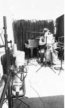 Matt recording his cello parts for film scoring portfolio session
